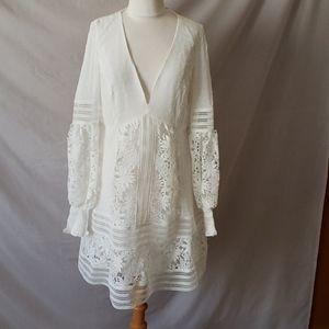 NEW Bardot Mariah Spliced Ivory Dress